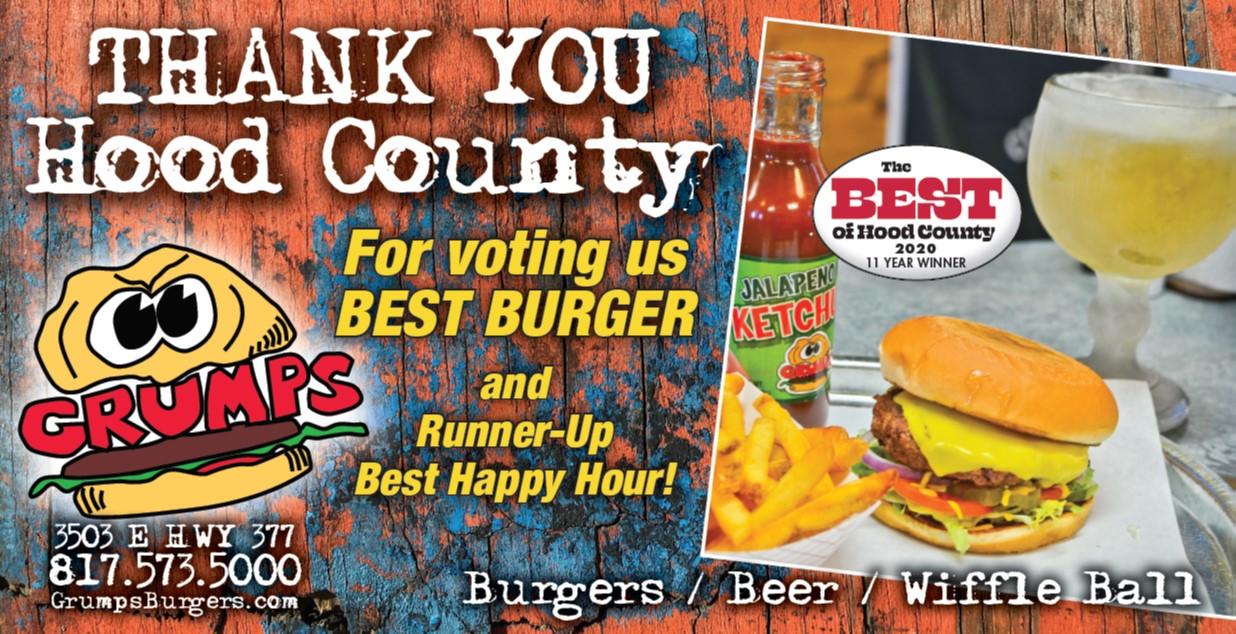 Thank You Hood County!