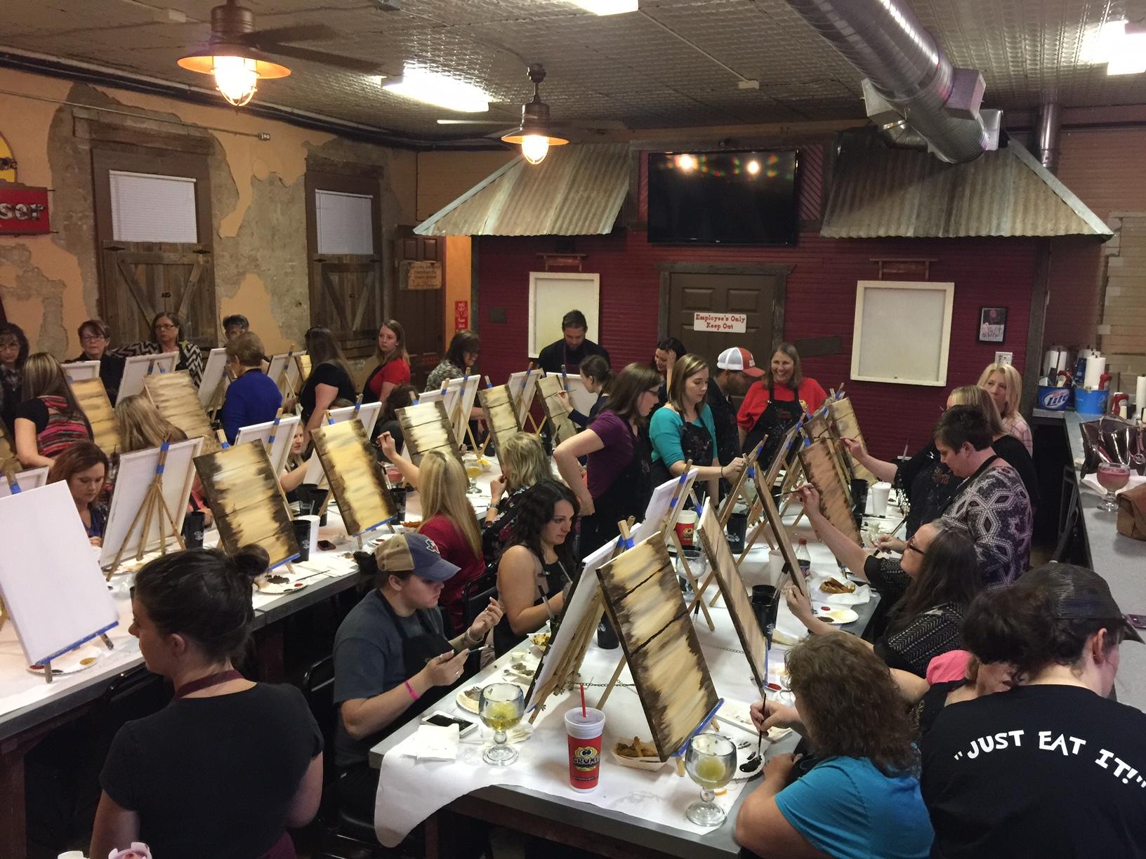 Painting fun in Burleson