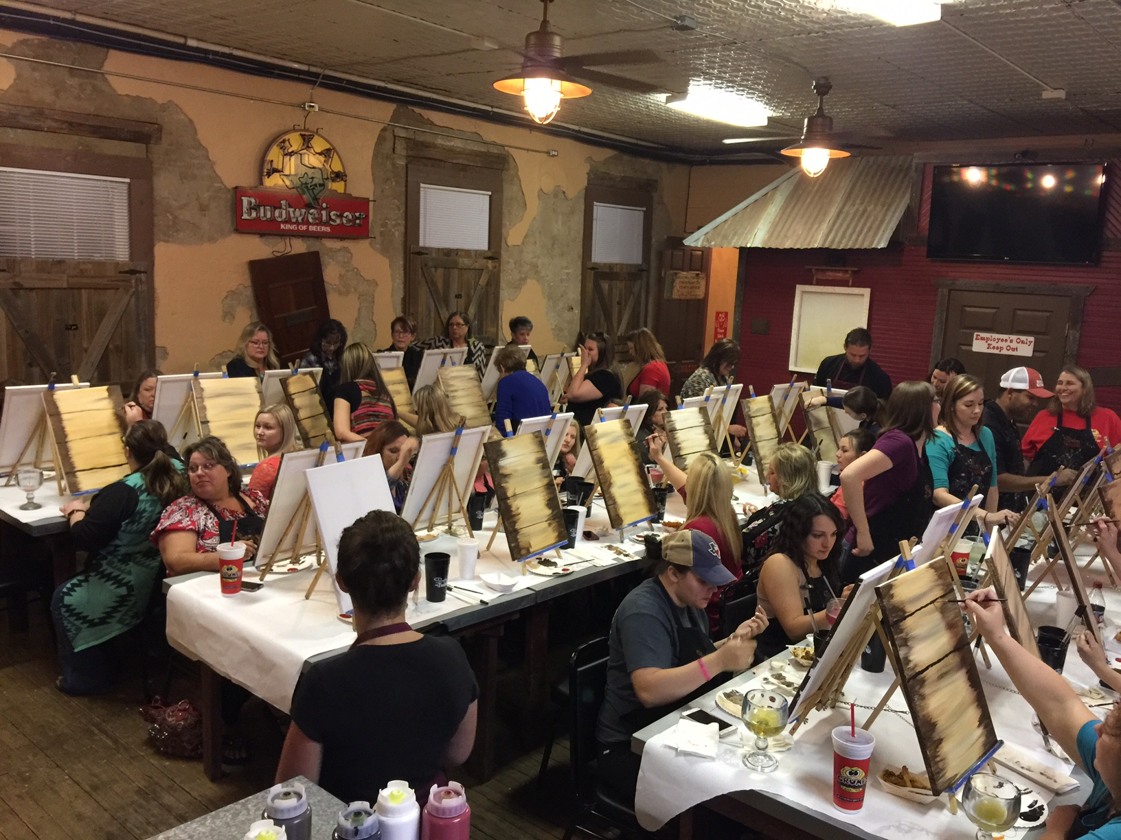 Painting fun in Burleson