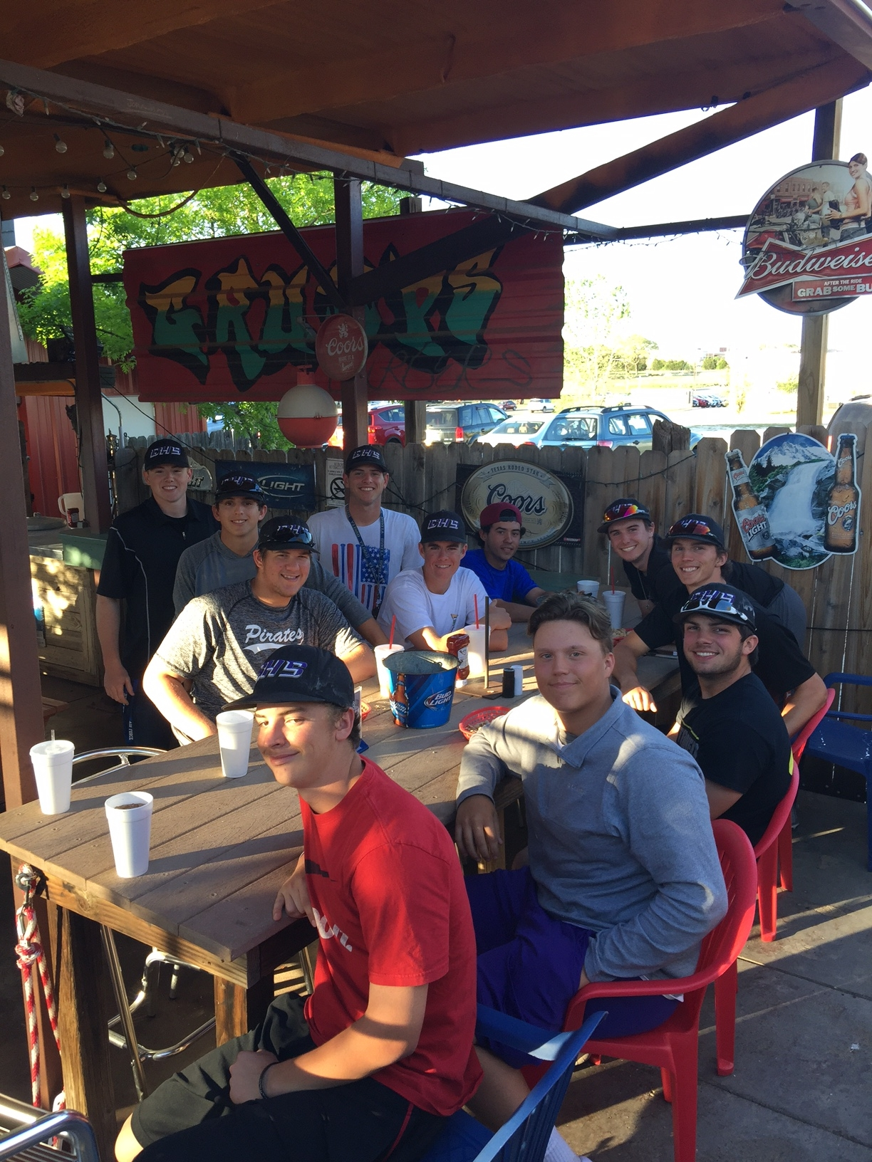GHS Varsity Baseball Team Dinner at Granbury!