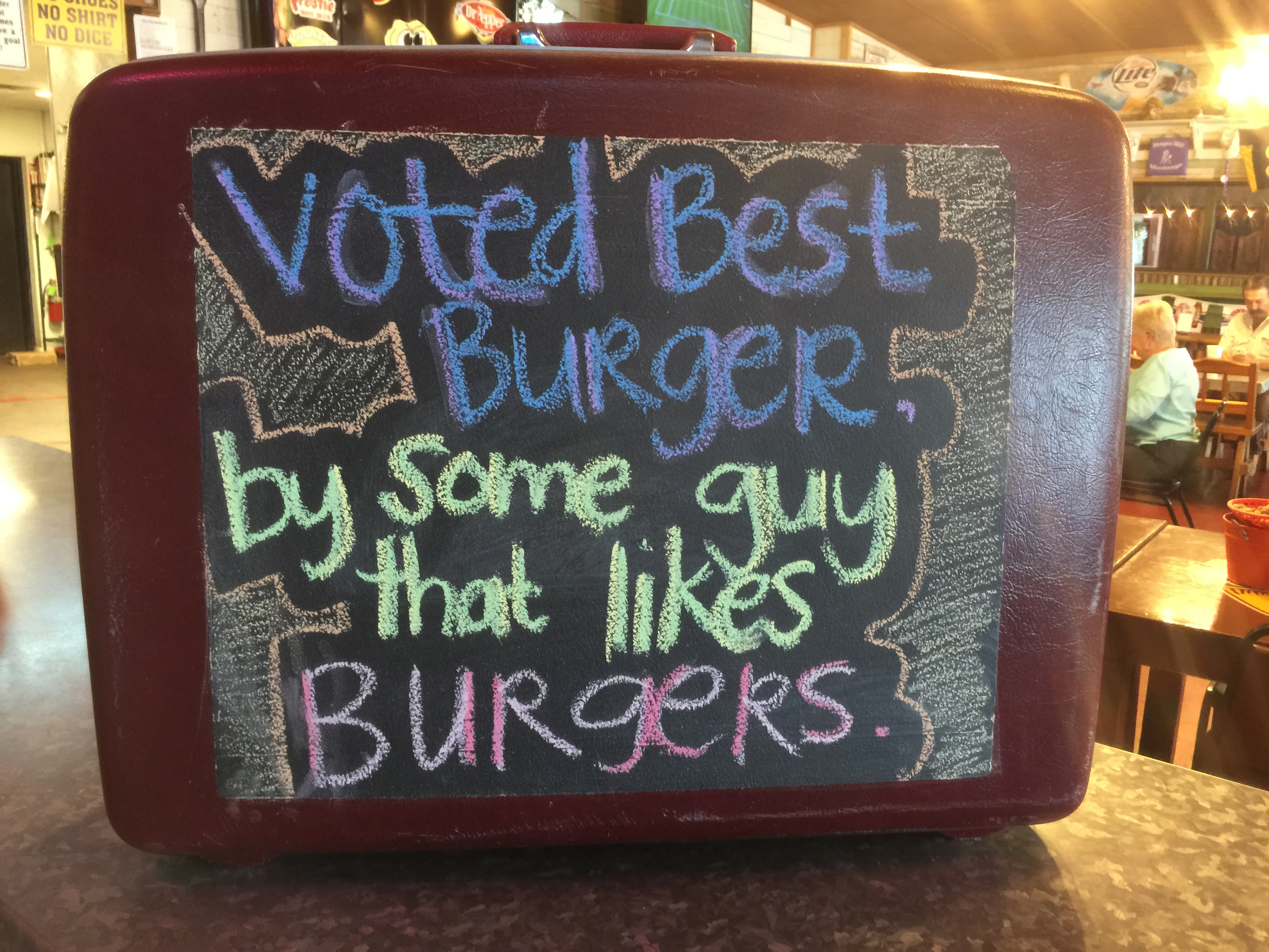 Glad SOMEBODY voted us best burger!