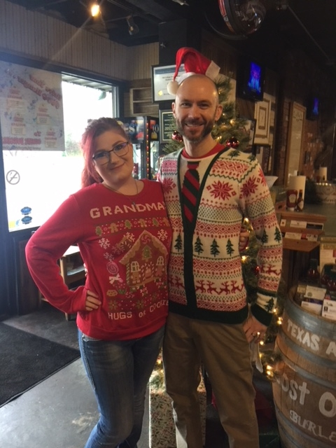 Totally fashionable Christmas sweaters....