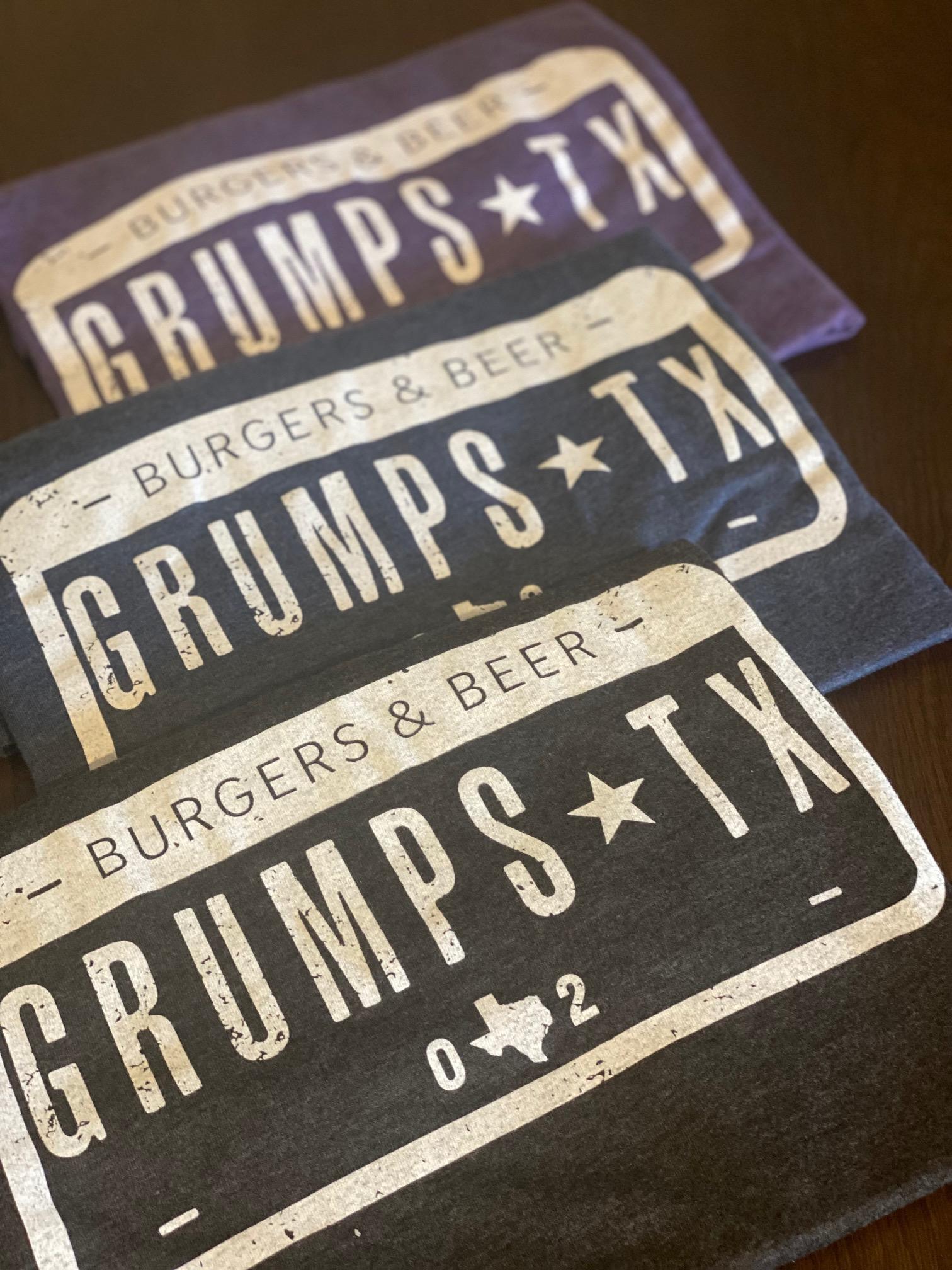 Grumps,TX License Plate Tees