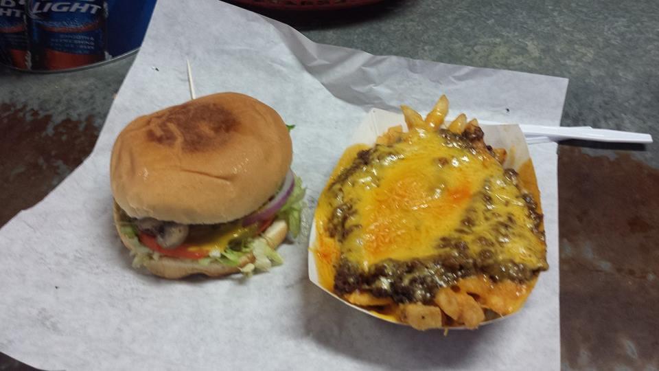 burger & cheese fries